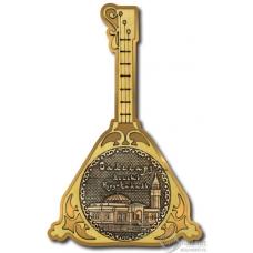 Магнит из бересты Салехард-Мечеть Нурд-Камал балалайка золото