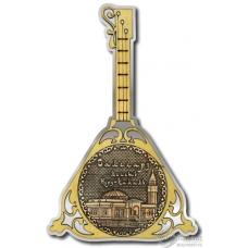 Магнит из бересты Салехард-Мечеть Нурд-Камал балалайка серебро