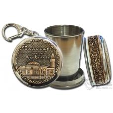 Стопка-брелок Салехард-Мечеть Нурд-Камал с накладкой из бересты
