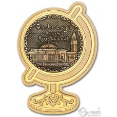 Магнит из бересты Салехард-Мечеть Нурд-Камал глобус дерево