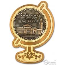 Магнит из бересты Салехард-Мечеть Нурд-Камал глобус золото