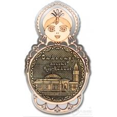 Магнит из бересты Салехард-Мечеть Нурд-Камал матрешка серебро