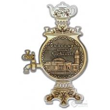 Магнит из бересты Салехард-Мечеть Нурд-Камал самовар серебро