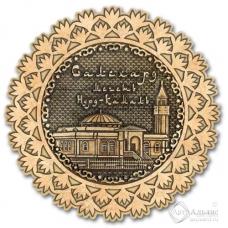 Магнит из бересты Салехард-Мечеть Нурд-Камал снежинка дерево