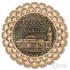 Магнит из бересты Салехард-Мечеть Нурд-Камал снежинка серебро