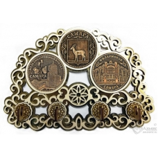 Ключница с тремя накладками из бересты Самара-Коллаж