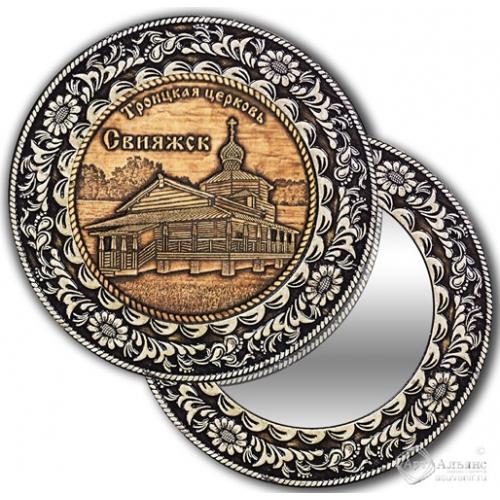 Зеркало круглое без ручки Свияжск-Троицкая Церковь