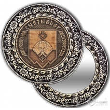 Зеркало круглое без ручки Сыктывкар-герб