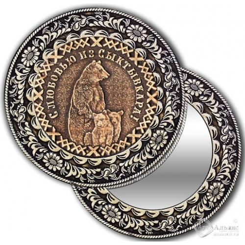 Зеркало круглое без ручки Сыктывкар-Медведи