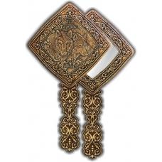 Зеркало квадратное с ручкой Тамбов-Пара Волков