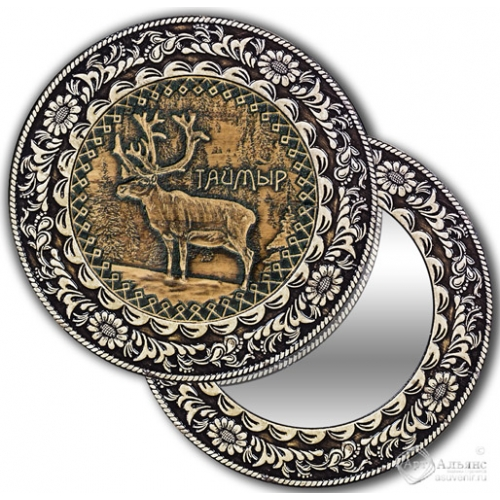 Зеркало круглое без ручки Таймыр-Олень