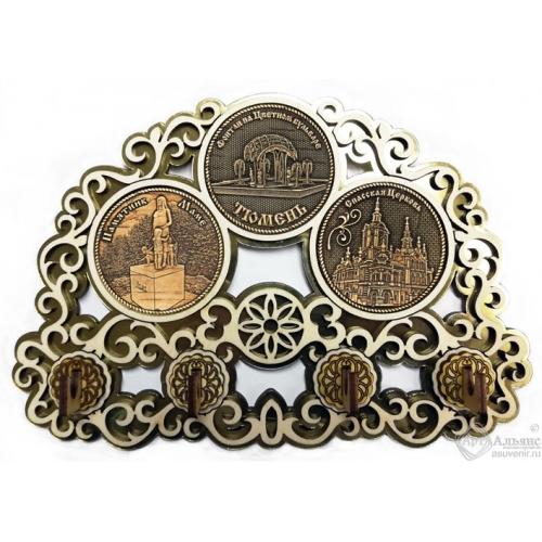 Ключница с тремя накладками из бересты Тюмень Коллаж