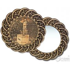 Зеркало из бересты Вернисаж без ручки Тюмень-Памятник маме