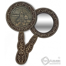 Зеркало круглое с ручкой Томск-Богоявленский собор
