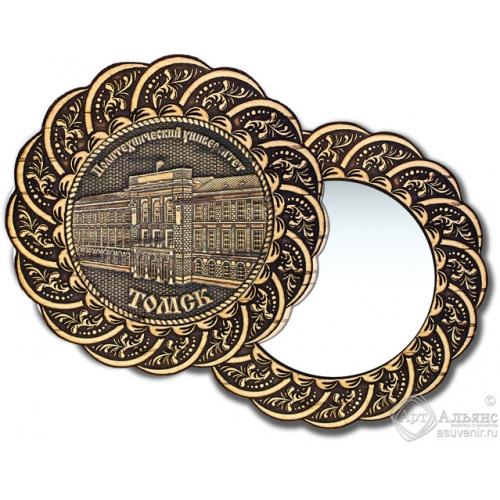 Зеркало из бересты Вернисаж без ручки Томск-Политехнический университет