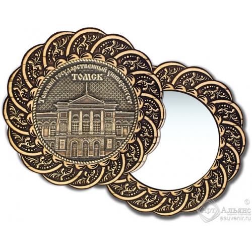Зеркало из бересты Вернисаж без ручки Томск-Государственный университет