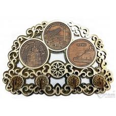 Ключница с тремя накладками из бересты Хаборовск-Ключница Коллаж