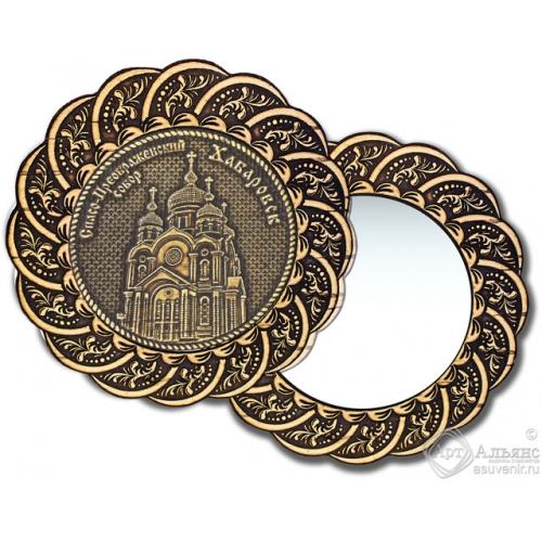 Зеркало из бересты Вернисаж без ручки Хабаровск-Свято-Преображенский собор