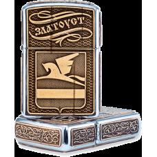 Зажигалка бензиновая Златоуст Герб ЗБ-2774