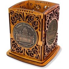 Карандашница с двумя накладками из бересты Санкт-Петербург-Исаакиевский собор