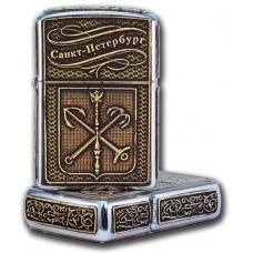 Зажигалка бензиновая Санкт-Петербург герб