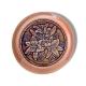 Шкатулка деревянная круглая с накладками из бересты Лилии 58х39