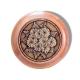 Шкатулка деревянная круглая с накладками из бересты Герберы 58х39