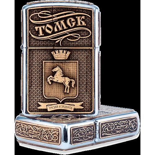 Зажигалка бензиновая Томск Герб ЗБ-6536