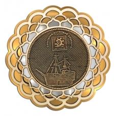 Магнит из бересты СКК Солнечный Берег Купола 3-х слойная